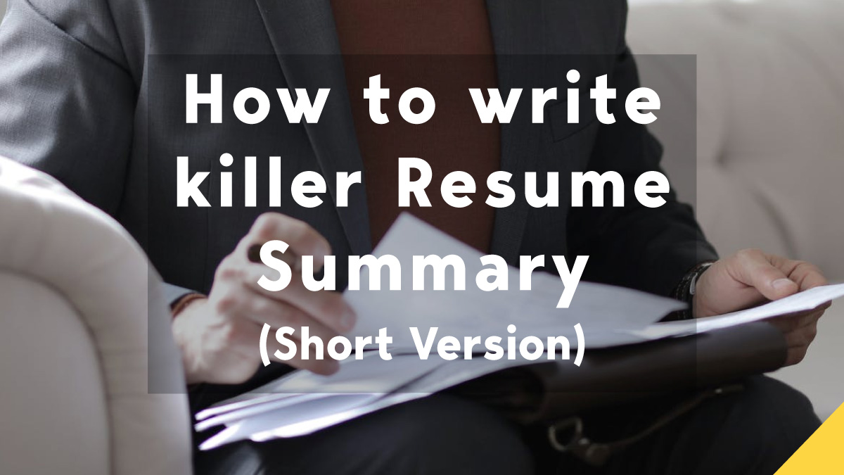 resume summary guide