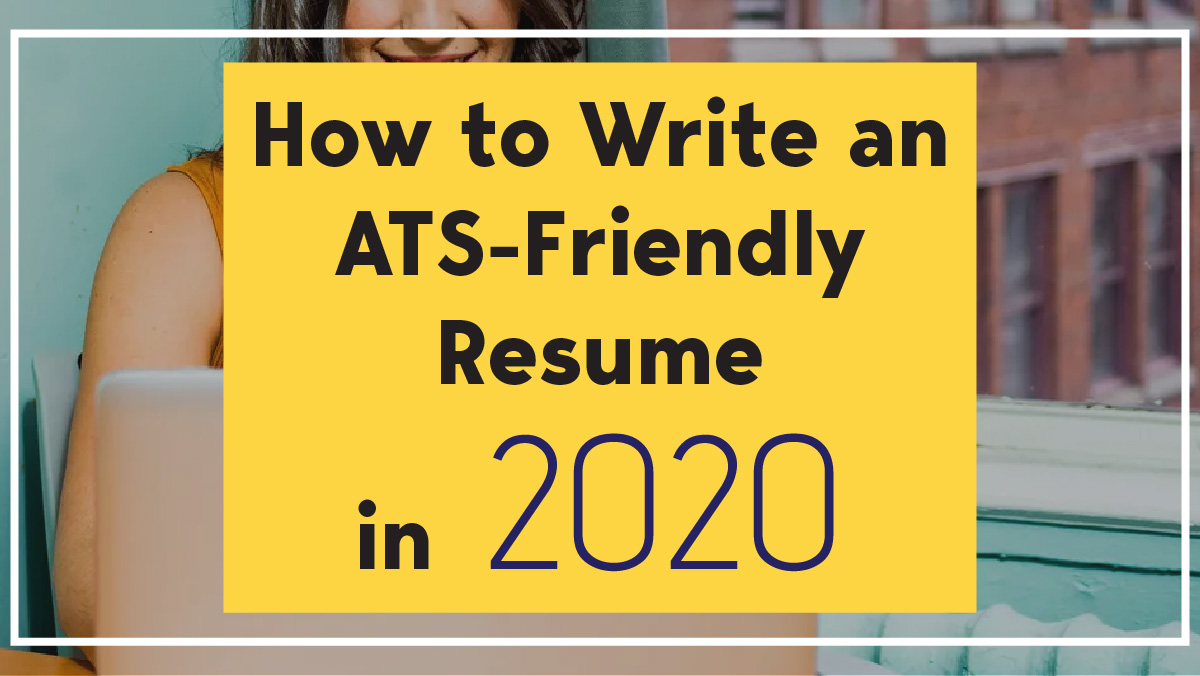 how to write ats friendly resume