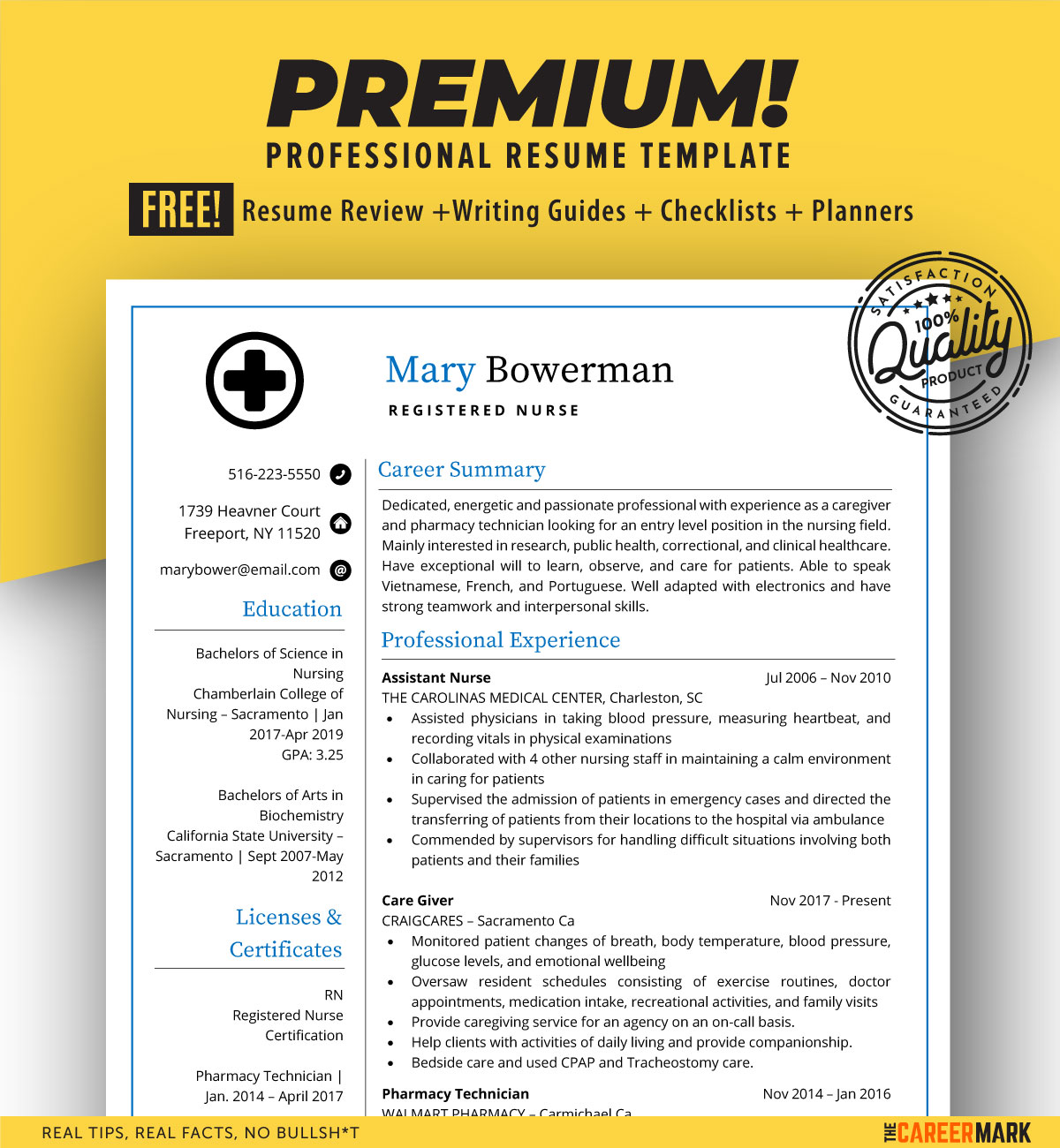 ats friendly resume template for registered nurses