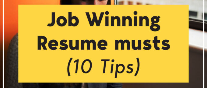 job winning resume tips - top 10