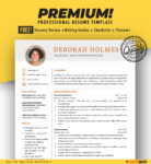Resume Template for Word | Administrative Officer | Instant Download